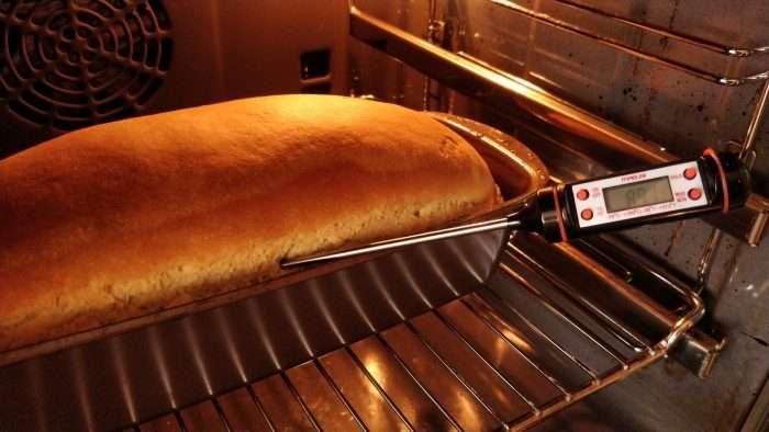 temperatura do pão de forma