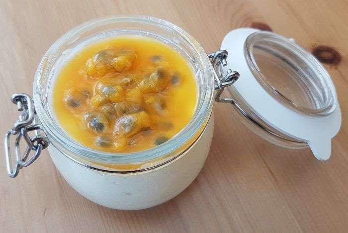 mousse de maracuja com gelatina
