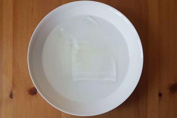 hidratação da gelatina