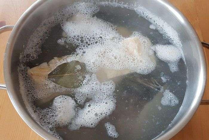 cozimento do bacalhau
