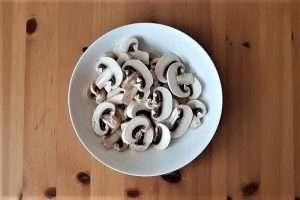 estrogonofe cogumelos picados