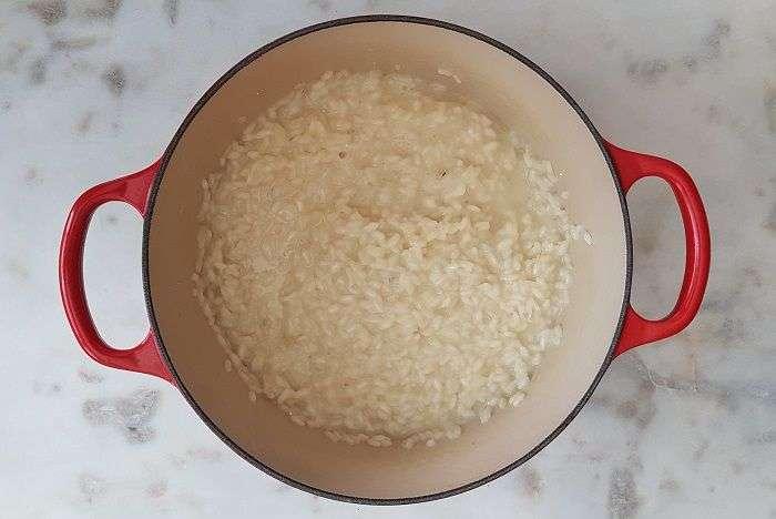 risoto de queijo pronto