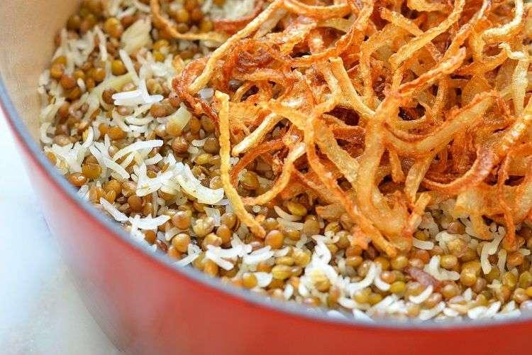 arroz com lentilhas