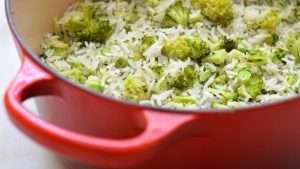 receita de arroz com brocolis