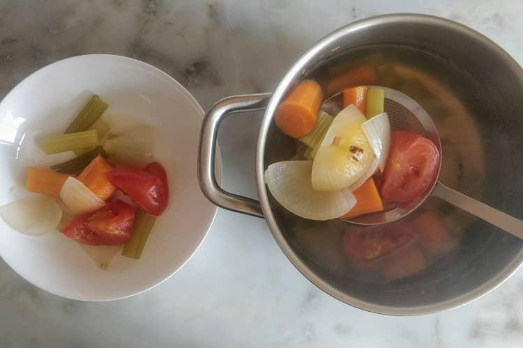 retire os legumes da panela