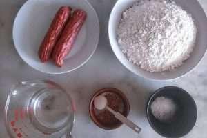 separe os ingredientes