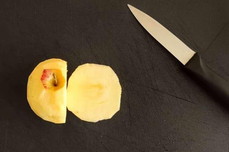 preparo da maçã
