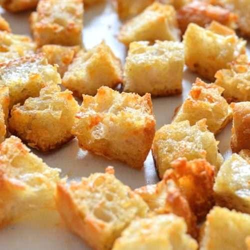receita de croutons