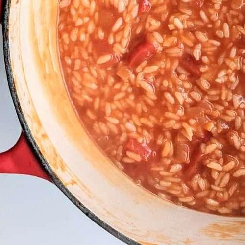 receita de arroz de tomate