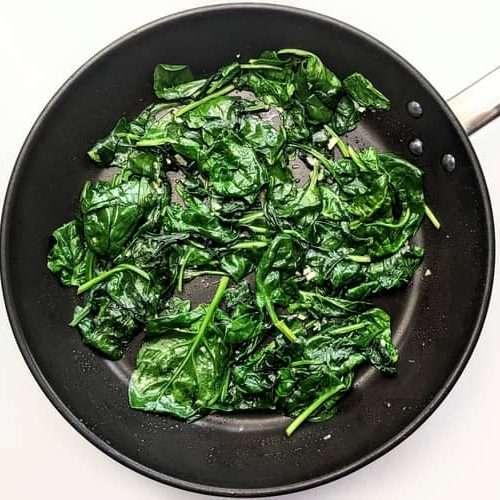 receita de espinafre refogado ou espinafre salteado