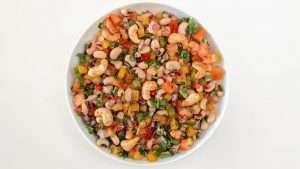 receita de salada de feijão-fradinho ou salada de feijão-frade
