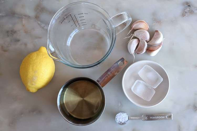 separe todos os ingredientes antes de começar