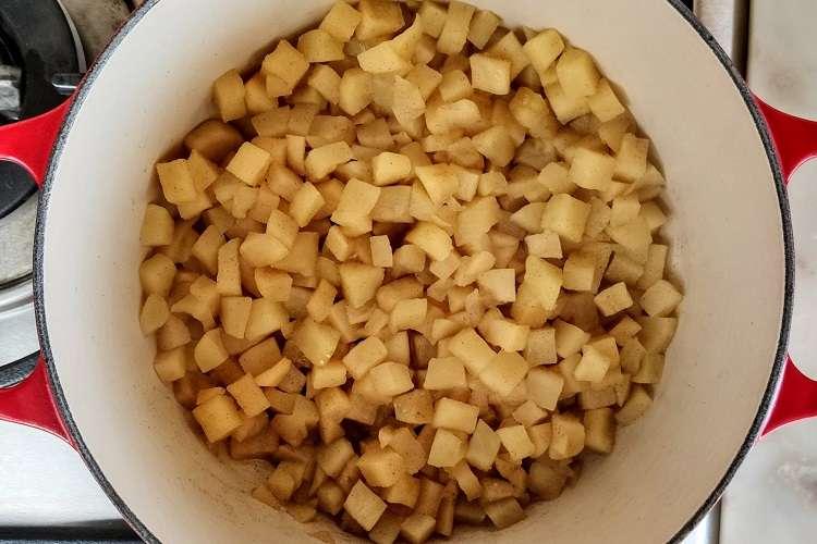 purê de maçã